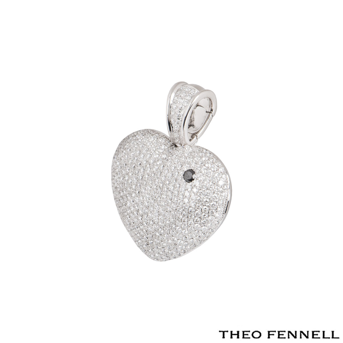 Theo Fennell White Gold Diamond Heart Art Pendant